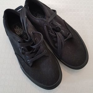 NEW Kids shoes, BLACK CANVAS VANS